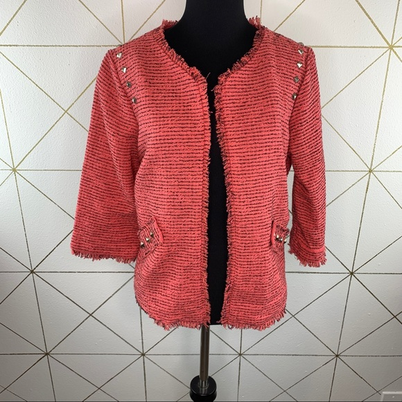 American Rag Cie Studded Open Front Jacket Medium